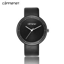 Cannanat пару часов для Для женщин мужские минималистский Высокое качество Женские часы прочный PU Кожаный ремешок 20 мм наручные кварцевые