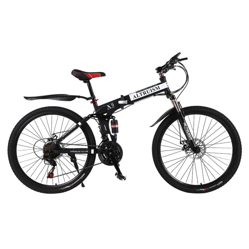 ALTRUISM X9 Mountain Bike Steel Bicicleta 26-Inch 21-Speed Bicycles Dual Disc Brakes Variable MTB Speed Bikes Racin