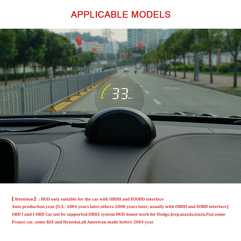 Image 3 - OBDHUD Car Head Up Display With  Round Mirror Digital Projection Car speedometer On Board Computer Fuel Mileage Temp New-in Head-up Display from Automobiles & Motorcycles