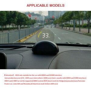 Image 3 - Автомобильный дисплей c700 OBD2 HUD, цифровой проектор с круглым зеркалом, спидометр, бортовой компьютер, измерение пробега и температуры