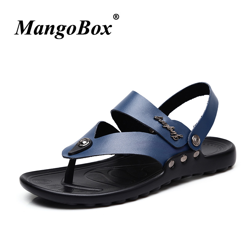 Mangobox Sandals Handmade For Men Brand Designer Slippers Big Size Summer Flip Flops Beach Shoes Rubber Bottom Outdoor Sandals