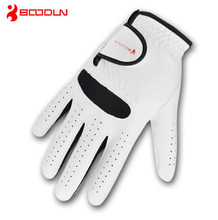 BOODUN Genuine Leather Men's Golf Gloves Breathable Soft Sheepskin Glove for Left Right Handed Wear Golf Sport Accessories 1 PC все цены