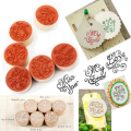 Assorted Retro Vintage Floral Flower Pattern Round Wooden Rubber Stamp for Scrapbooking Free Shipping
