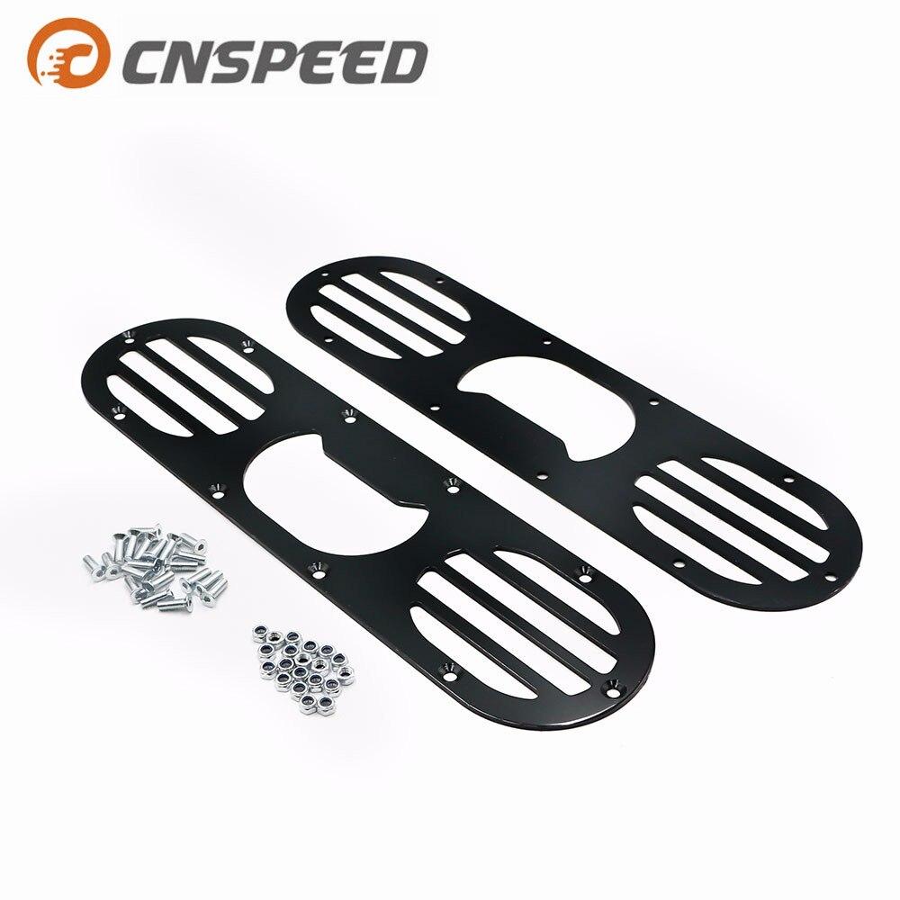 CNSPEED 2pcs Black Car Rear Bumper Rear Bumper Diffuser For Universal Car Rear Bumper Air Diversion Diffuser Panel YC100864