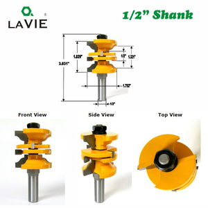 "Image 2 - LAVIE 2pcs 12mm 1/2"" Shank Entry & Interior Door Ogee Router Bit Matched MIlling Cutter Set for Wood Woodworking Machine  03123"