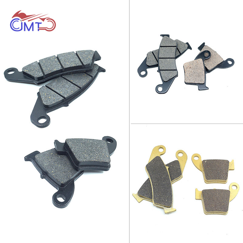 For Honda CRF250R 2004-2018 CRF250X 2004-2017 <font><b>CRF450R</b></font> 2002-2018 CRF450X 2005-2018 CR250R 2002-2007 Front Rear Brake Pads Set image