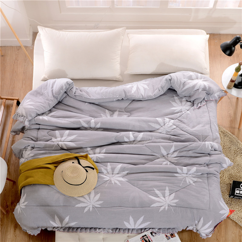 Washed Cotton Warm Comforter Autumn Winter Quilt Size Queen Full Soft Adult Children Blanket Bed Cover Home Use High Quality