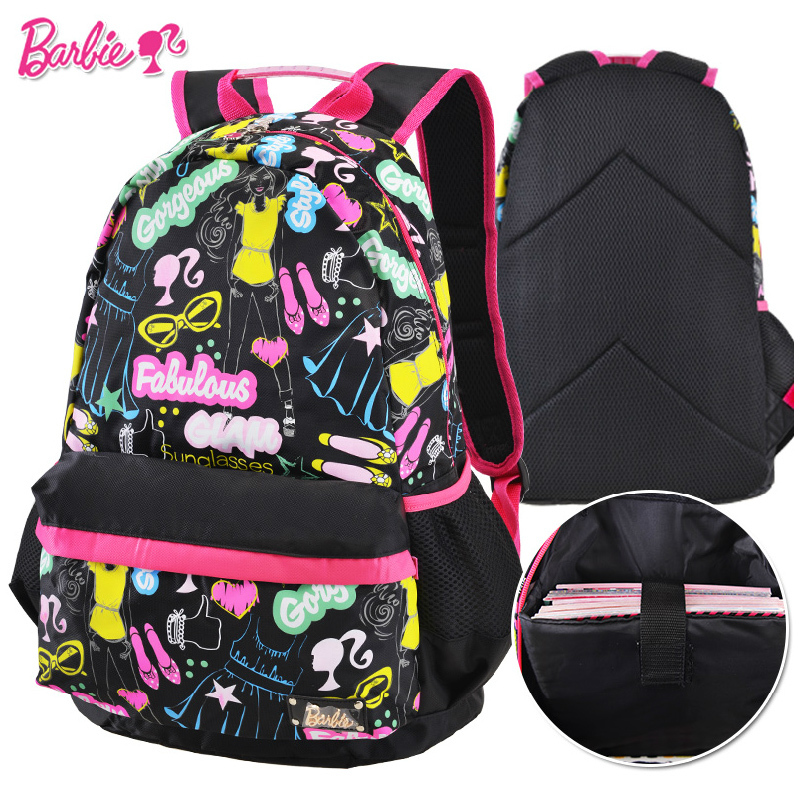 Barbie Cartoon Student Children Elementary High School Bag Books Shoulder Casual Backpack Portfolio For Grisl Class Grade 4 6 On Aliexpress Alibaba