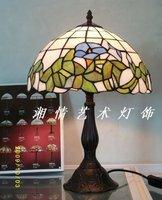 Орхидея Ретро Настольная лампа Тиффани лампы спальня кровать гостиная освещение китайский творческие произведения Книги по искусству
