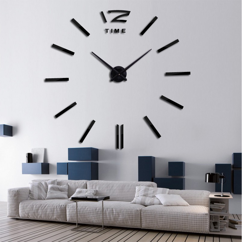 2017 new home decor big wall clock modern design living for Design wall clocks for living room