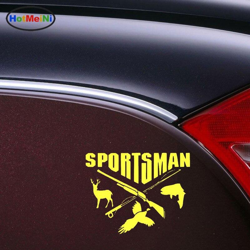 Car Styling Sportsman Hunting Fishing Deer Fish Gun Car Stickers Decals Decor Decoration Auto Accessories Sticker 15.8CM*12CM Islamabad