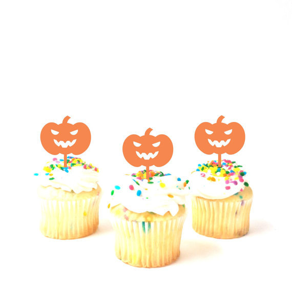 halloween pumpkin party picks cupcake toppers baby shower wedding birthday toothpicks decor in cake decorating supplies from home garden on aliexpresscom