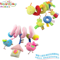 1pc Night Sleepy Caterpillar Bird Baby Pacify Rattles Bright Label Baby Carriage Bed Hanging Development Infant