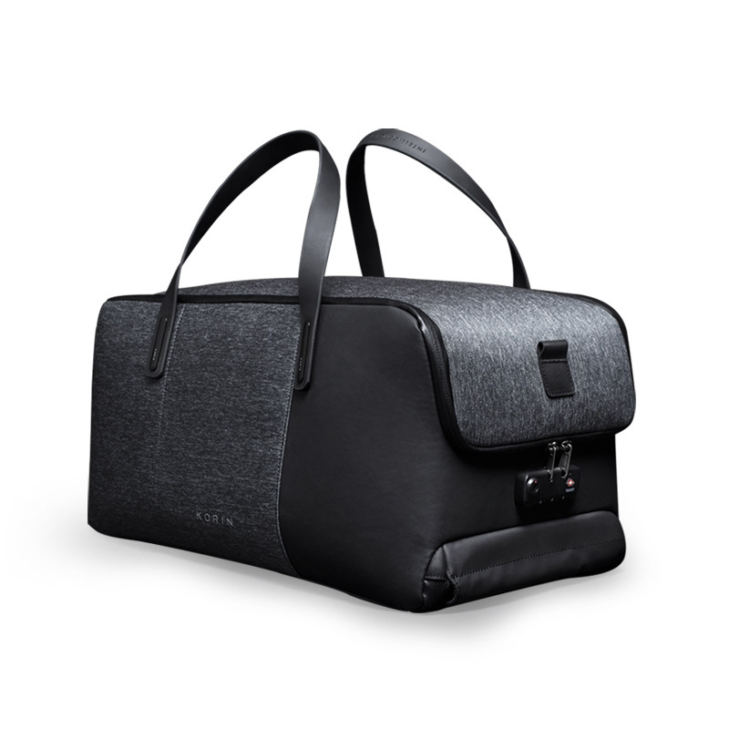 Krion Flexpack Men business Travel Duffle bag Anti theft Lock carry on luggage Large Capacity Foldable