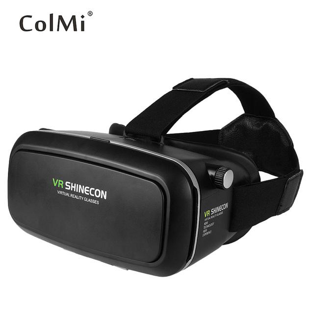 ColMi Realidade Virtual Óculos 3D com Suporte a Controle Remoto 3.5-6 Polegada Experiência Imersiva Telefone Inteligente Bluetooth 3.0 VR caixa