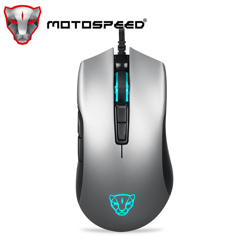 Motospeed V70 USB Wired Gaming <font><b>Mouse</b></font> PMW3325 5000DPI PMW3360 <font><b>12000</b></font> <font><b>DPI</b></font> Computer RGB LED Multi-Color Backlight Send With Box image