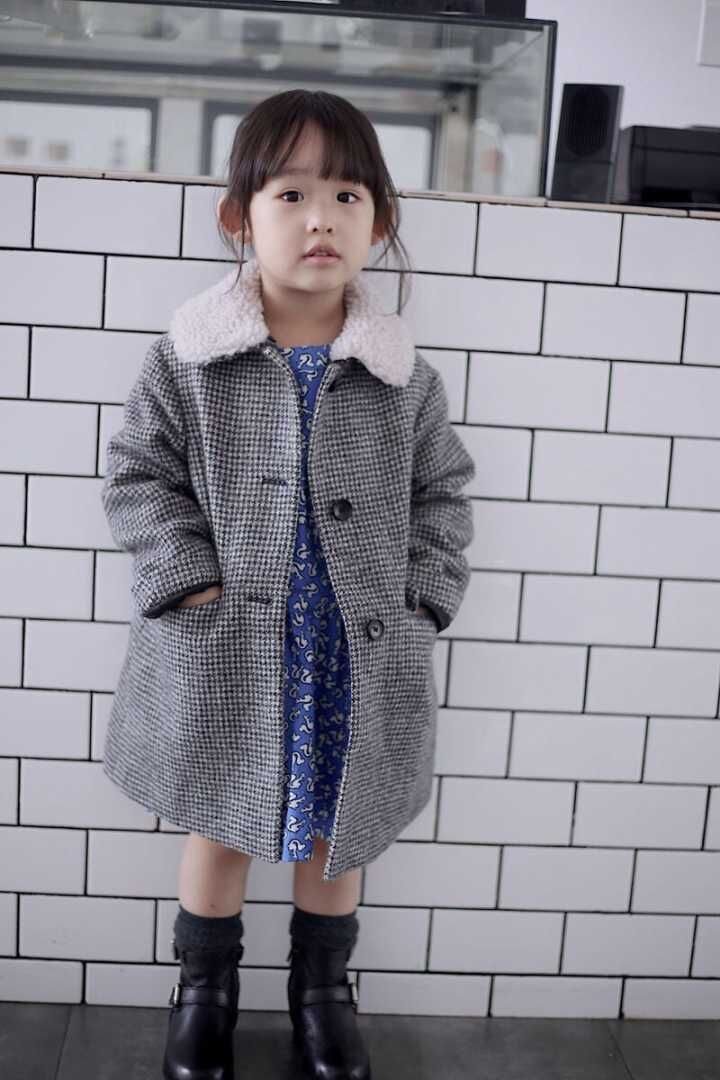 Winter girls wool coats girls cotton padded warm coat turn down collar plaid girls winter tops boutique kids clothes jacket fashion 2017 autumn winter kids girls warm outerwear jacket turn down collar one button plaid wool coat children girls clothes