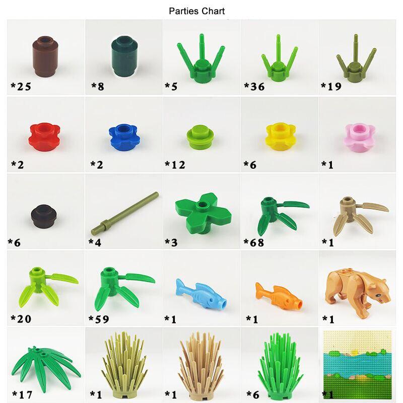 plantas blocos de construção para legoe técnica