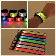 Нейлоновый светодиодный спортивный ремешок на запястье светящийся игрушечный браслет светильник светящийся браслет вечерние игрушки для детей NSV775