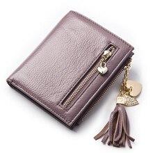 Miulee Echte echtem Leder Frauen Kurze Geldbörsen Kleine Brieftasche Reißverschluss Münzfach Kreditkarte Brieftasche Weibliche Geldbörsen Geldscheinklammer