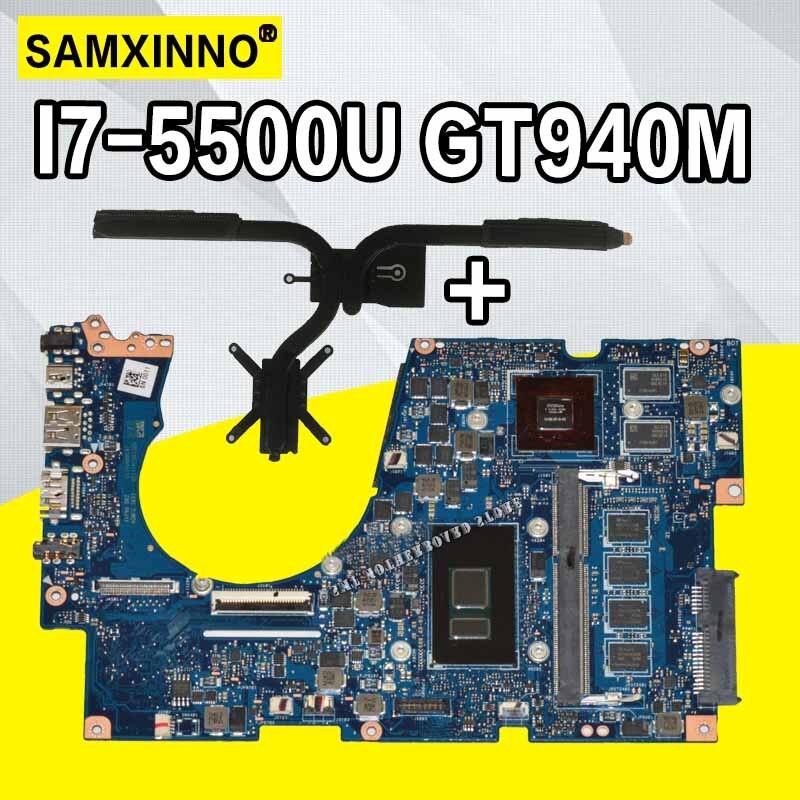 Envoyer radiateur pour asus ux303u ux303ub u303u ordinateur portable carte mère carte mère I7-5500 GT940M 4 Gb RAM 100% Travail Ok