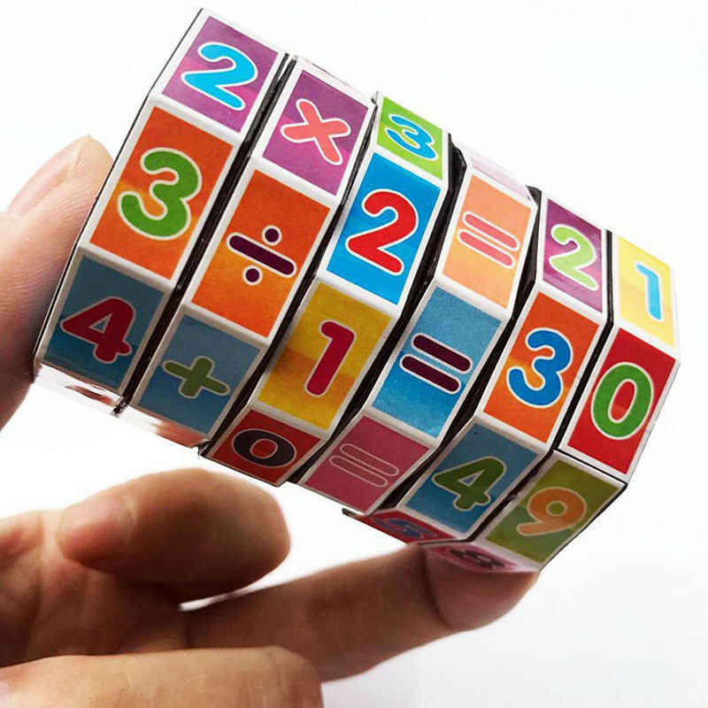 Magic Cubes Rubiks Toy for Kids Educational Learning Teaching Math Intelligence Developmental Cube Puzzle Toy Gift