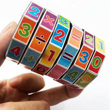 Magic Cubes Rubiks Toy for Kids Educational Learning Teaching Math Intelligence Developmental Cube Puzzle Toy Gift(China)