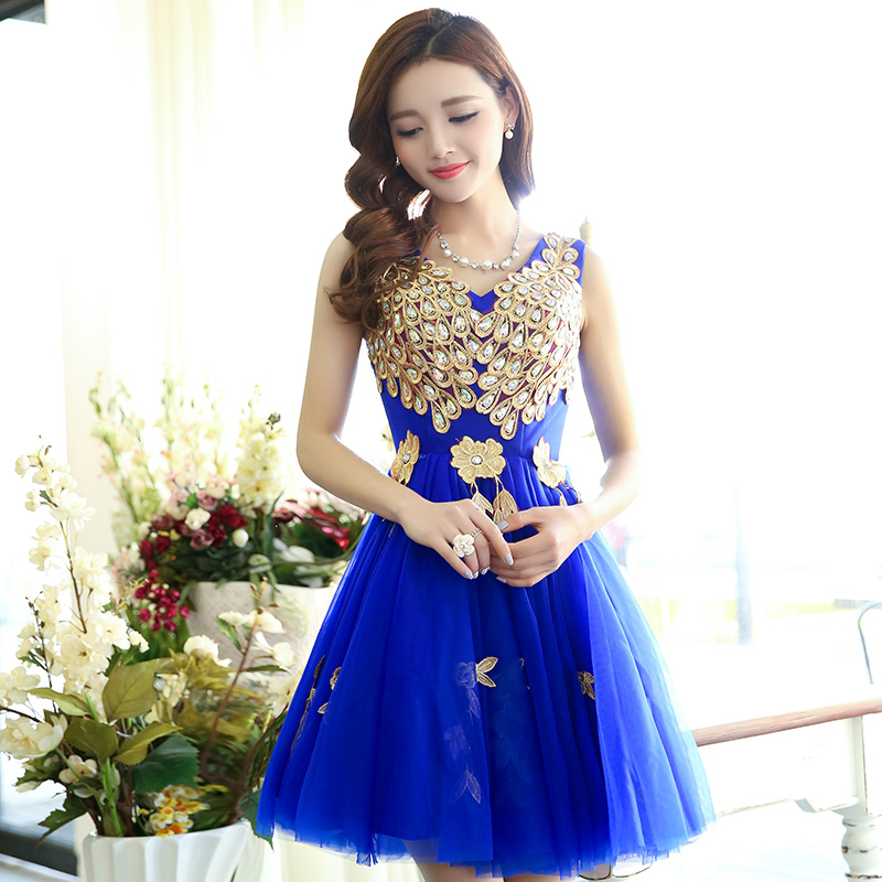 royal blue short prom dress Evening Dress special occasion dresses ...