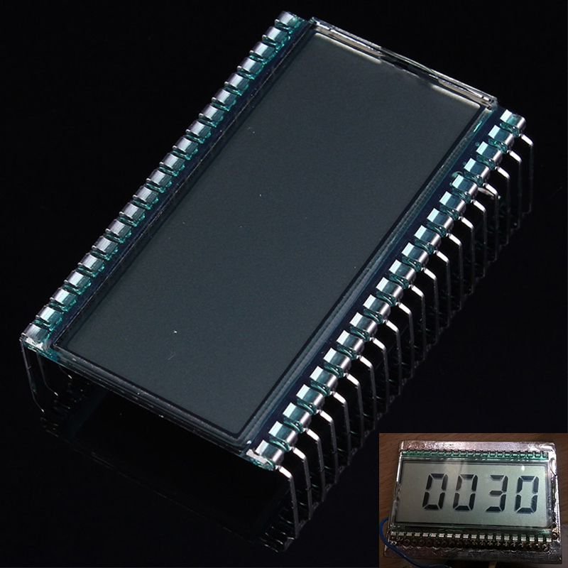 EDS805 LCD Display Module 4 Bit 8 Digit TN Segment LCD 50.8x30.48x2.8mm 45.72x16.51mm Metal Pin
