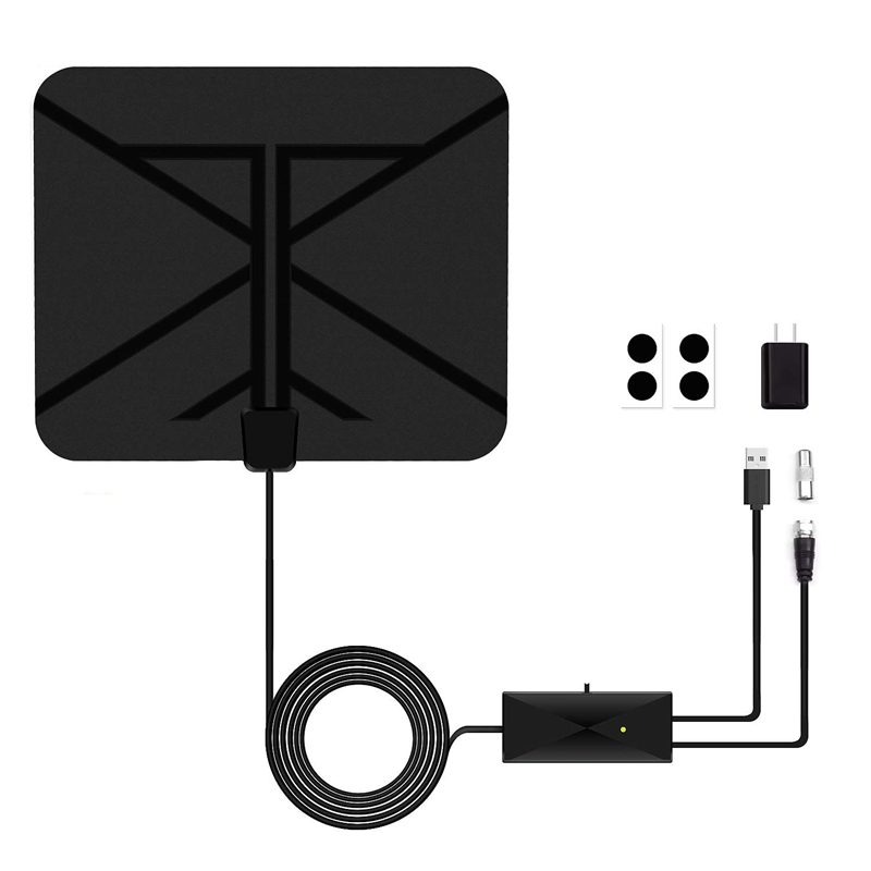 Hdtv Antenna Indoor Digital Amplified 60 Miles With Switch Amplifier Signal Booster 4K Hd 1080P Vhf Uhf All Tv'S Freeview Loca