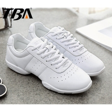Students Dance Shoes Latin Ballroom Jazz Women Sneakers Breathable Leather Soft Flexible Sole College Lace Up Salsa Sport Shoes