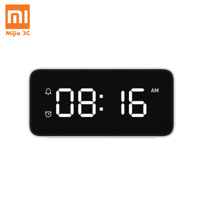 Xiaomi Xiaoai Smart Voice Broadcast Alarm Clock ABS Table Dersktop Clocks Time Calibration Office Work with Mi Home App image