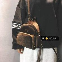 Nouvelles Femmes De Mode de Velours Sac À Dos Doux Lady Mini Sac À Dos Adolescente école Sac À Dos voyage baobao