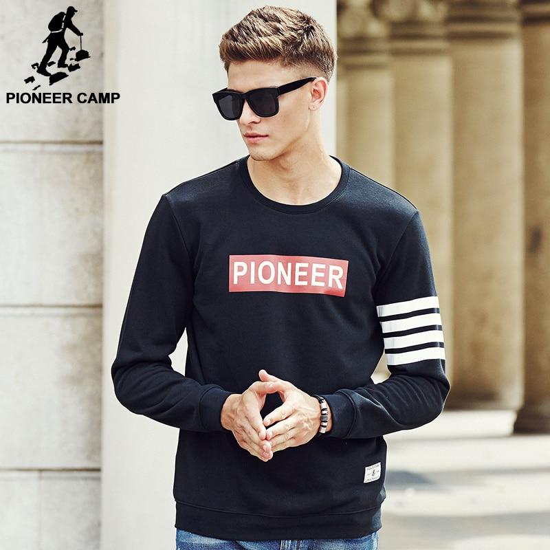 Pioneer Camp 2017 New Arrival hoodies men brand clothing High quality printed hoodies casual fashion male hoodie sweatshirt men