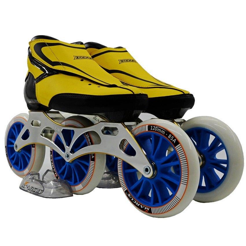 ZODOR chaussures de patinage en ligne professionnel adulte enfant patins de vitesse chaussures de patinage 3*120mm roues de patinage