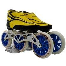 Zodor роликовых коньках обувь профессиональные взрослый ребенок скорость коньки катание обувь 3*120 мм катание колеса