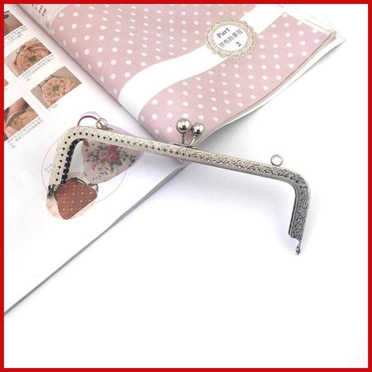 Nabi 20CM thicken purse DIY sewing Big coin purse bronze square purse frame kiss clasp