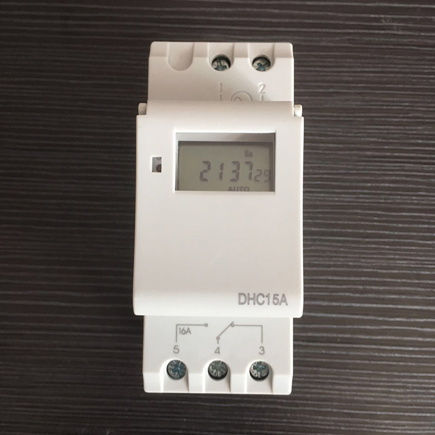 Free Shipping DHC15 Weekly Programmable 24 50Hz Hour Digital Timer Switch Din Rail Timer with high quality  electronics