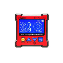 Dual-Axis Digital Angle Protractor Display Level Gauge With 4 Side Magnetic Base Inclinometer Electronic