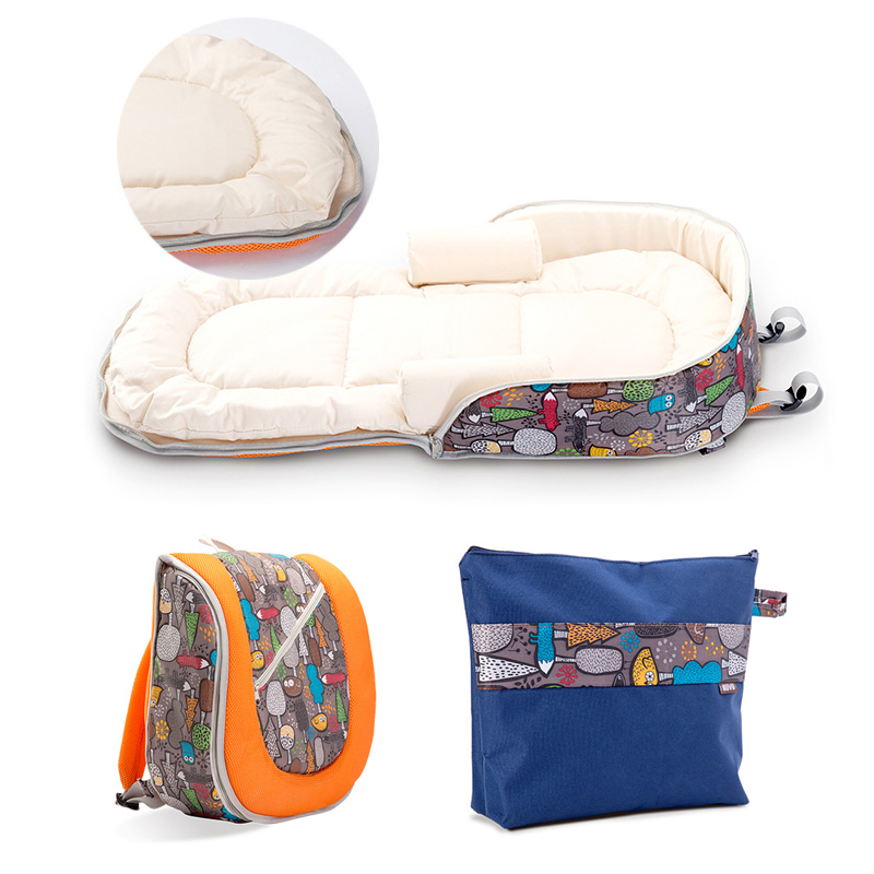 Kidsrun Mummy Bag Multi-function Baby Travel Bed Portable Baby Crib Backpack Foldable Co-Sleepers For Newborn Folding Bed Cot dewel foldable baby cribs portable safe newborn cot mummy baby travel bags supplies storage 5 pocket shoulder bag baby nappy bed