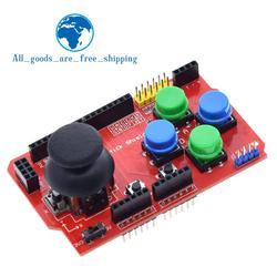TZT щит джойстика для платы расширения Arduino с функцией аналоговой клавиатуры и мыши