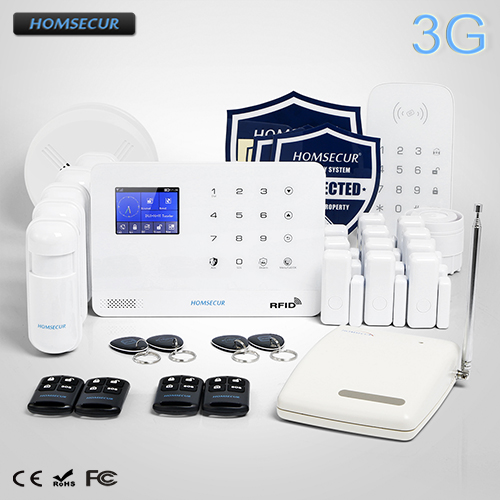 HOMSECUR Wireless LCD 3G/GSM RFID SMS Autodial Home Alarm System LA02-3G