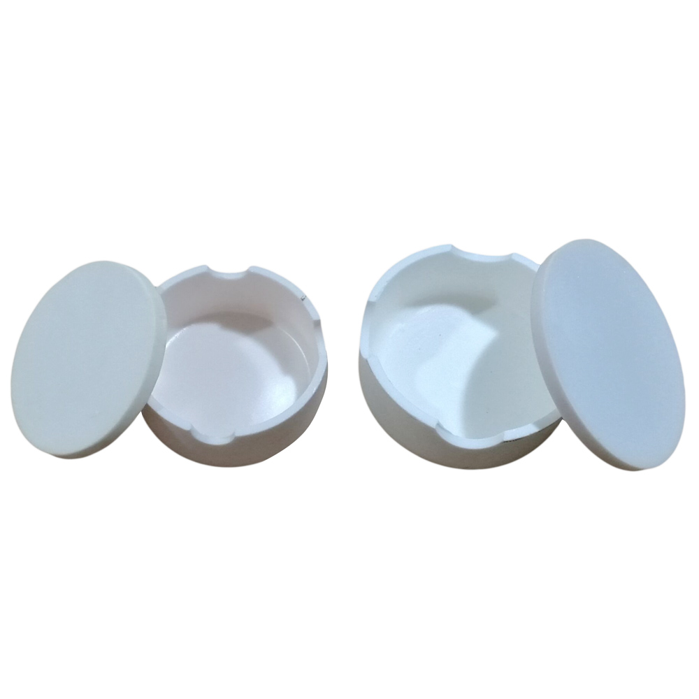 1pc Dental Lab CAD crucible for zirconia crowns sintered crucible dental Crucible with cover round shape holding beads in oven cover lab кошелек для монет