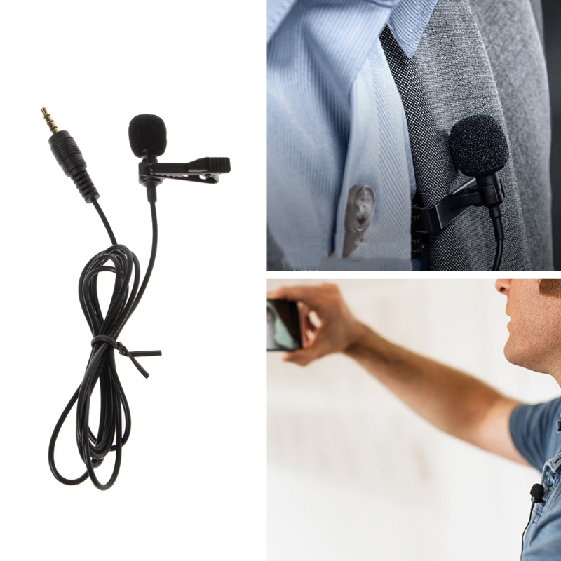 OPEN-SMART Clip-On Style Omnidirectional Condenser Wired Microphone For Laptop PC Smart Phone