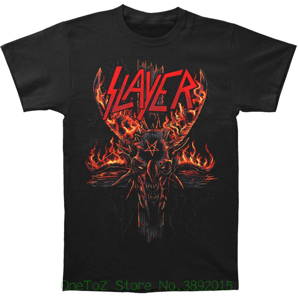 Mens High Quality Custom Printed Tops Hipster Tees Authentic Burning Pentagram Halloween Slim - Fit T-shirt S - 2xl New
