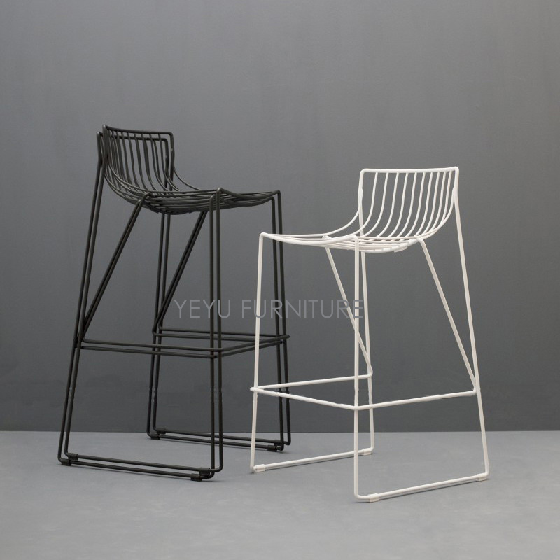 Minimalist Modern Design Metal Steel Loft Bar Chair Bar