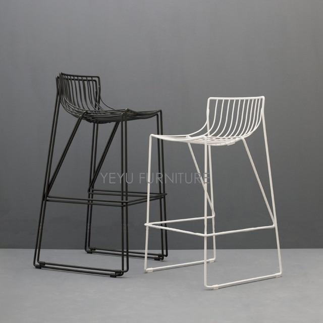 Awesome minimalista moderna di design in metallo acciaio for Sgabelli bar economici