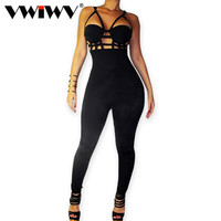 2015 New Fashion Sexy Jumpsuit Women Brand Camisole Overall Patchwork Boot Cut Overalls Lady Jumpsuits Club