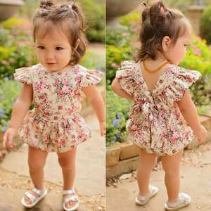 Newborn Infant Kids Baby Girls Floral Romper Jumpsuit Outfit Playsuit Clothes cotton fabric skin-friendly August 14