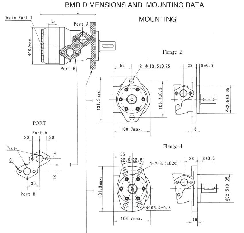 Hydraulic Components Cycloidal Orbital Motor Danfoss Omr 250 1510271